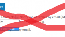 Comment Subscriptions Reloaded Rejected and Replaced