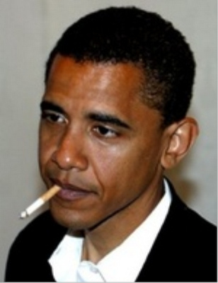obama smoking photo