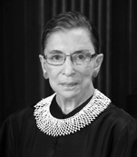 Justice Ruth Bader Ginsburg, who obviously exercised strong influence over the contents of Justice Kennedy's majority opinion in Obergefell v. Hodges. Official U.S. Supreme Court photograph, no copyright on U.S. Government photography.