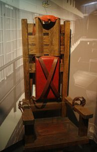 """Old Smokey,"" the electric chair used by the State of Tennessee until 1960."