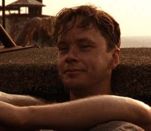 "Tim Robbins as Andy Dufresne in ""Shawshank Redemption"""