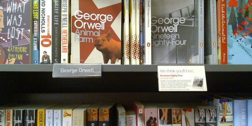 """Orwell in Waterstones, Ealing,"" by Mark Hillary. Creative Commons Attribution Generic 2.0 License."