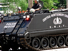 police tank photo