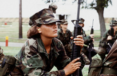 female soldier photo