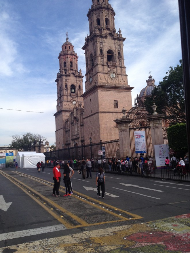 Morelia's central cathedral.