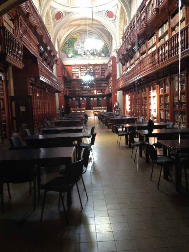 Universidad Hidalgo's fine, old library.