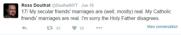 Ross Douthat On Marriage