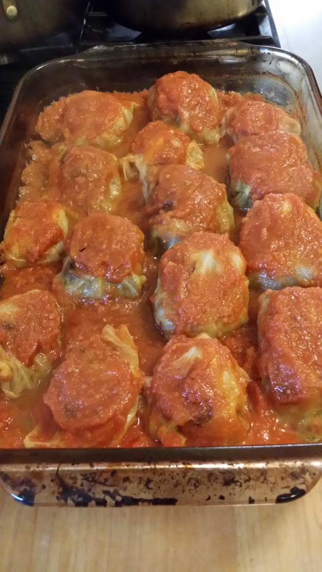 Stuffed cabbage--Russian soul food.