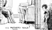 When A Feller Needs A Friend: His Mother's Voice!