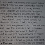 Text of poem dormeur du val by Arthur Rimbaud