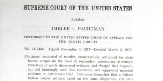 Imbler v Pachtman