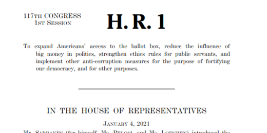 "HR 1 ""For the People Act"""