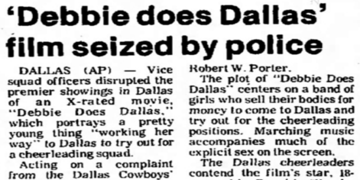 Wednesday Writs: Debbie Does Dallas, and the Public Domain